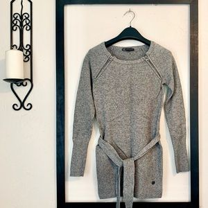A X Armani Exchange belted wool sweater